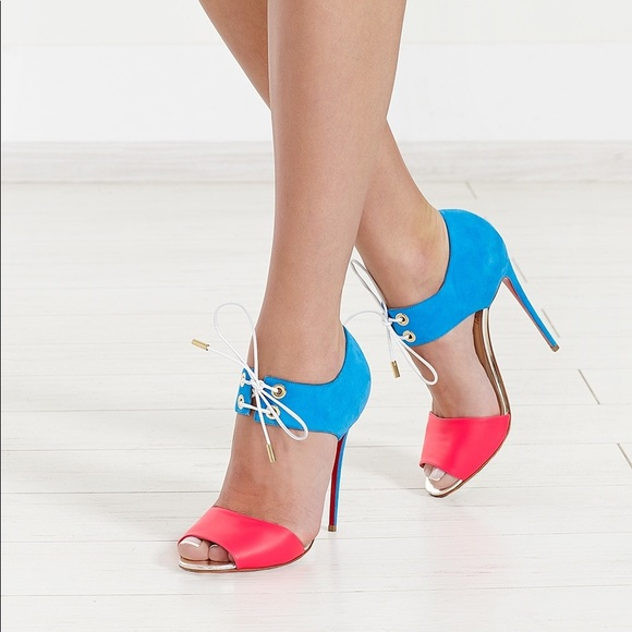 Louboutins Mayerling Fluo Lace up Sandals